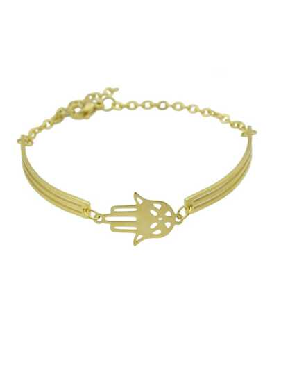 Golden Feminine Fashion Hand Bracelet