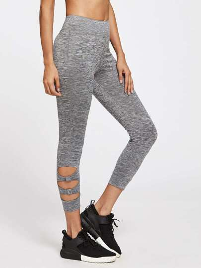 Space Dye Cutout Leggings