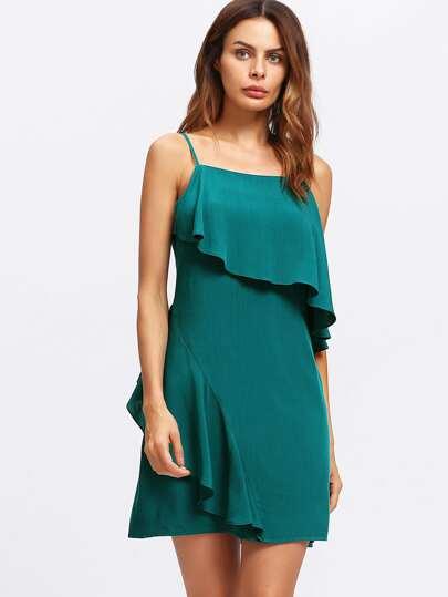 Flounce Trim Cami Dress