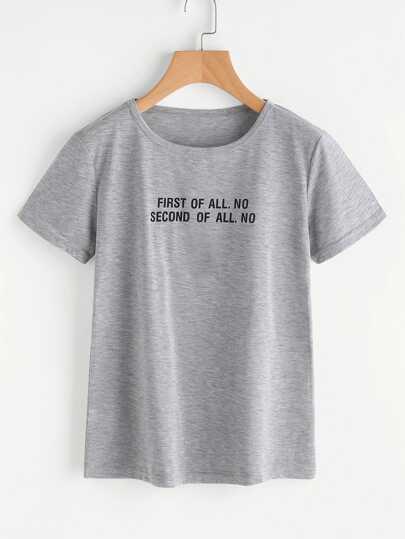 Tee imprimé slogan