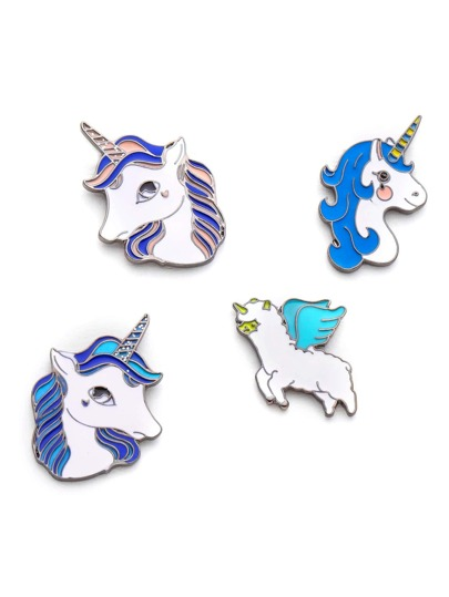 Ensemble de broche mignonne design de cheval