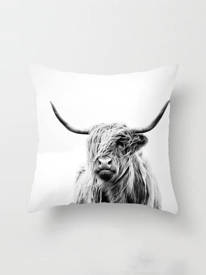 Funda de almohada con estampado de yac