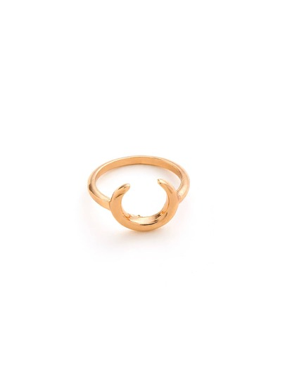 Horn Design Metal Ring