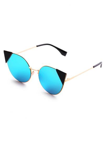 Gafas de sol de ojo de gato con lente destellado