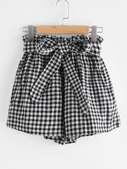 Shorts avec lacet avant avec taille élastique
