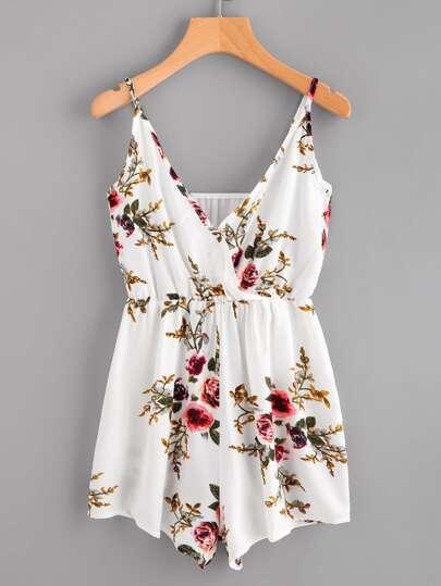 Cami Jumpsuit mit Chorhemd und Blumen