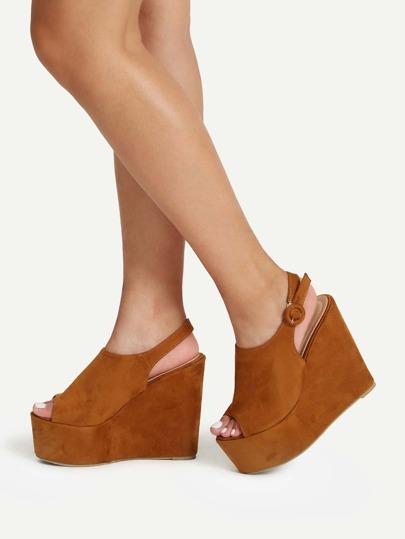Sandales en coin avec plate-forme