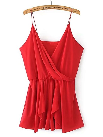 Surplice Front Cami Playsuit