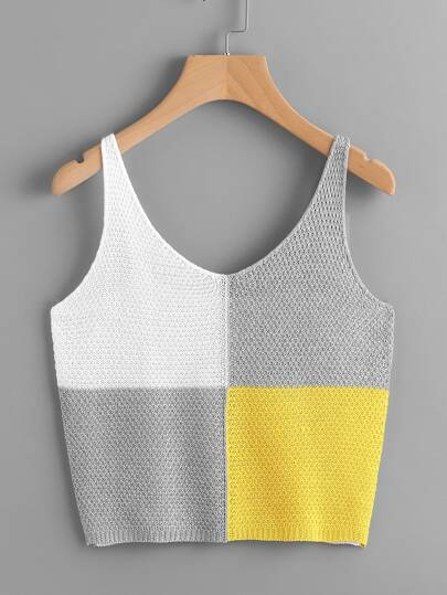 Top color-block en tricot