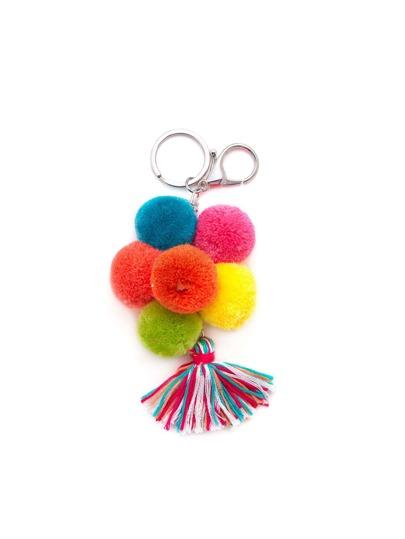 Pom Pom Tassel Keychain