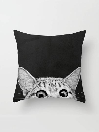 غطاء وسادة بطباعة القط