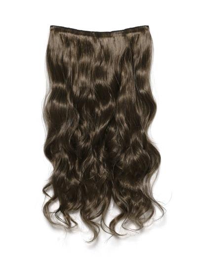 Dark Brown & Caramel Clip In Soft Wave Hair Extension