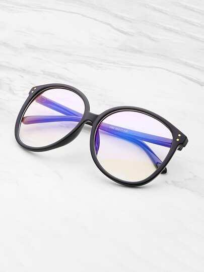 Gafas oversized con lente transparente