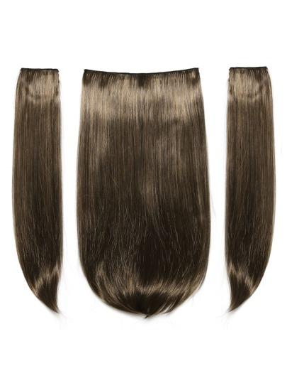 Dunkelbraun und Karamell Clip In Haarverlängerungen 3pcs