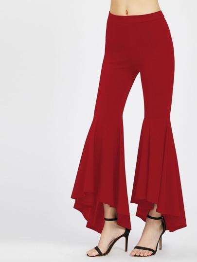 Pantalons asymétrique avec des plis