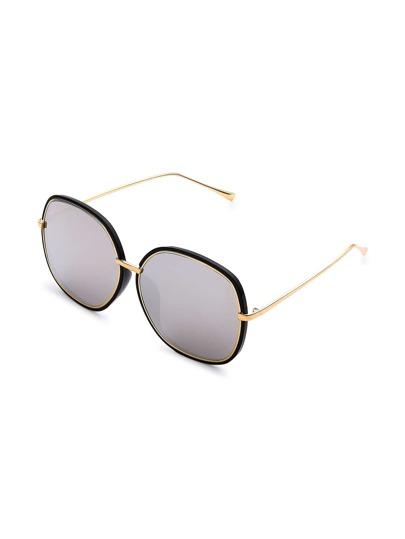 Kontrastfarbige Sonnenbrille mit Spiegel Linse