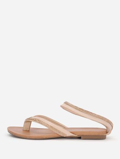 Sandales avec strass et bande