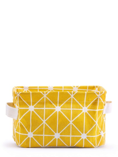 Geometric Print Desktop Storage Bag