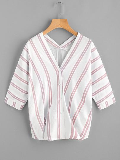 Blusa de rayas con manga murciélago
