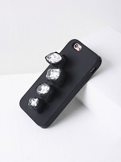 Rhinestone Finger Ring iPhone Case