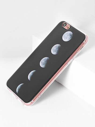 Funda para iphone con estampado de eclipse solar total - negro