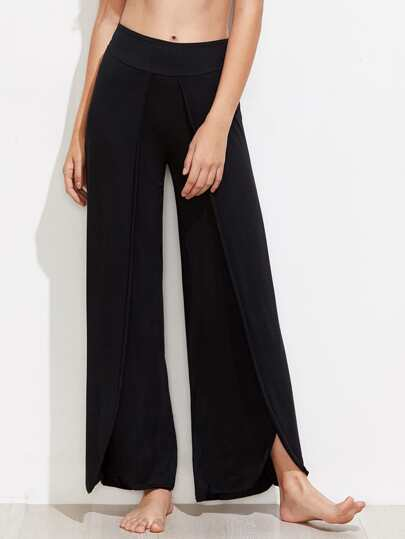 Overlap Wide Leg Pants