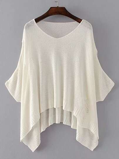 Dolman Sleeve Ripped Detail Tricots