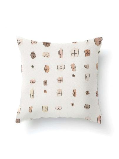 Funda de almohada con estampado gráfico