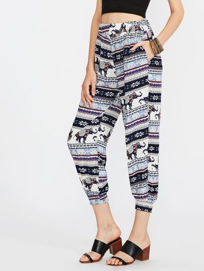 Pantalons imprimé Aztèque