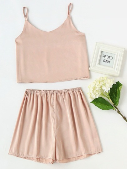 Satin Cami Pajama Set