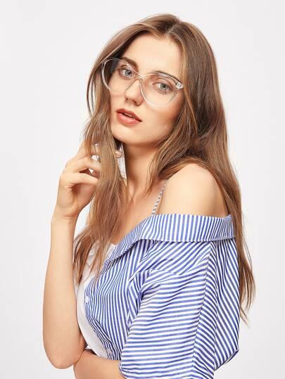 Gafas de lente transparente con ojo de gato