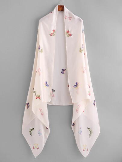 Бабочка печати Легкий шарф