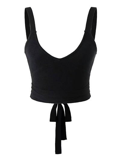 Lace Up Back Tank Top