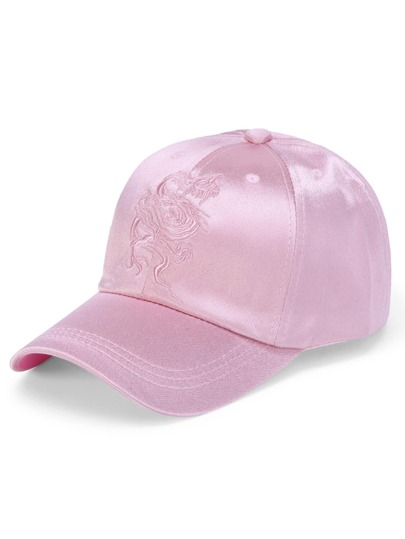 Dragon Embroidery Satin Baseball Cap