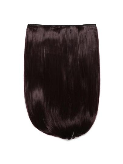 Plum Clip in glatter Haarverlängerung