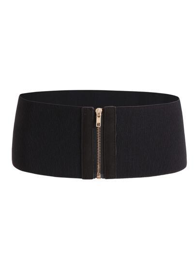 Cinturón elástico con cremallera