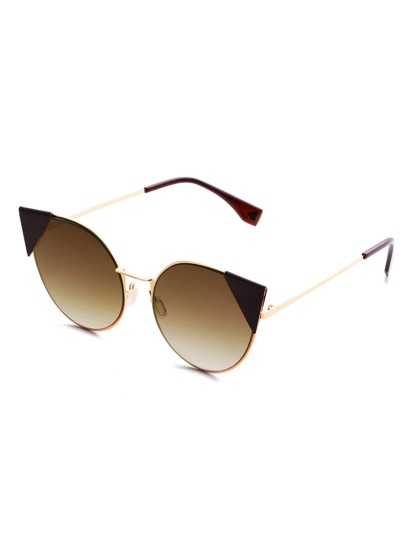 Gafas de sol con ojo de gato con marco metálico