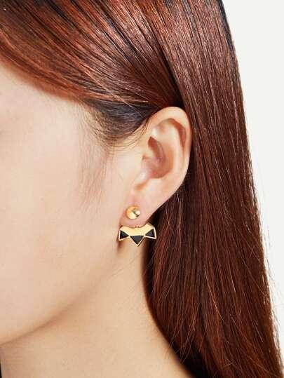 Boucles d\'oreille géométrique à deux tons