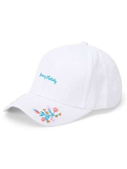 Flower Embroidery Baseball Cap