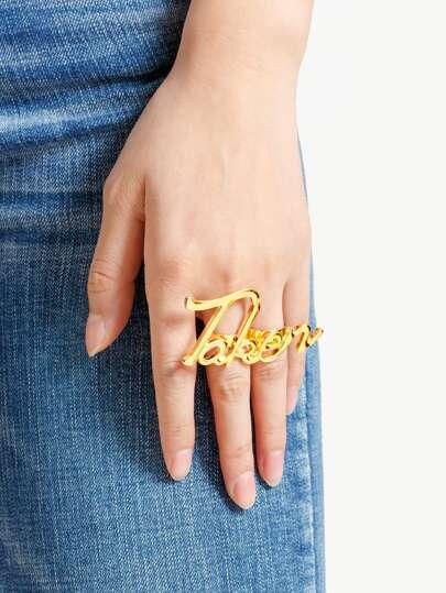 Letter Love Design Ring