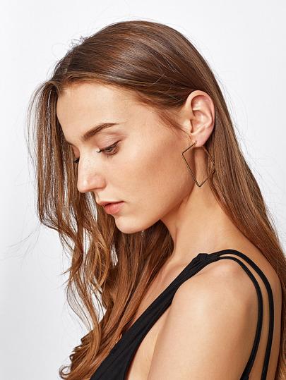 Boucles d\'oreille géométrique métallique minimaliste