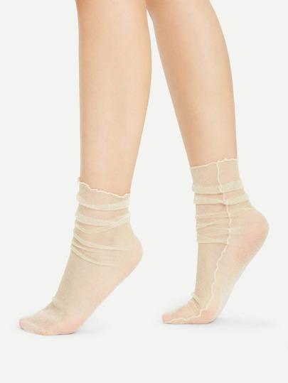 Calcetines tobilleros con costura lateral