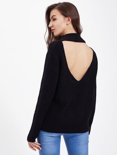 Jersey con cuello alto con abertura