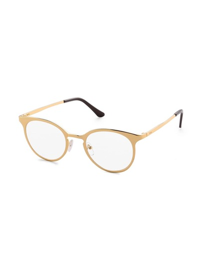 Clear Lens Metal Frame Glasses