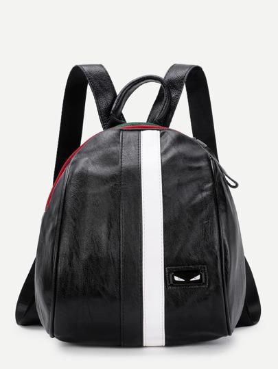 Модный кожаный рюкзак с аппликацией