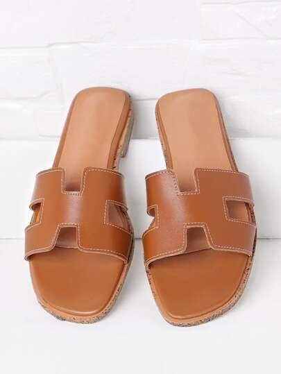Sandales découpé en PU