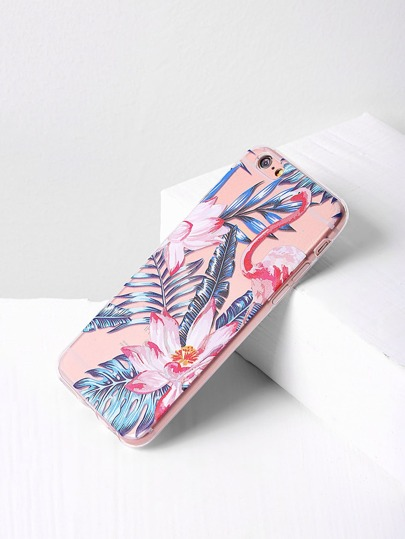 Leaf And Flower Print iPhone Case