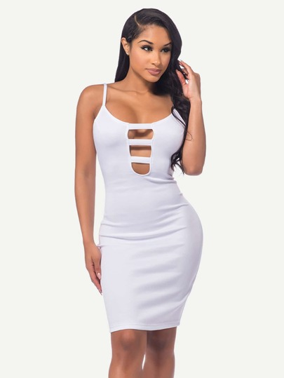 Ladder Cut Out Front Cami Dress