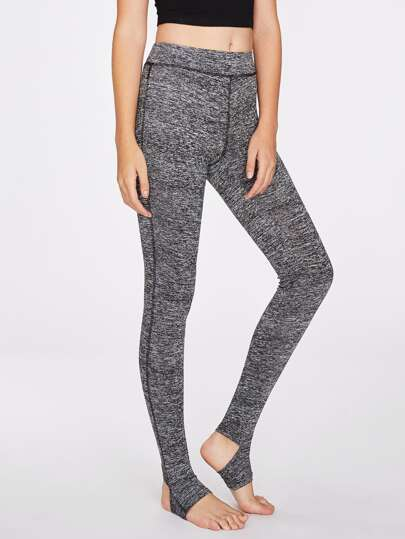 Topstitch Marled Knit Stirrup Leggings