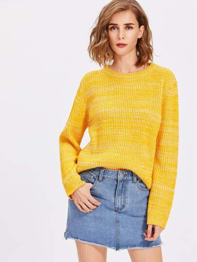 Marled Knit Pullover